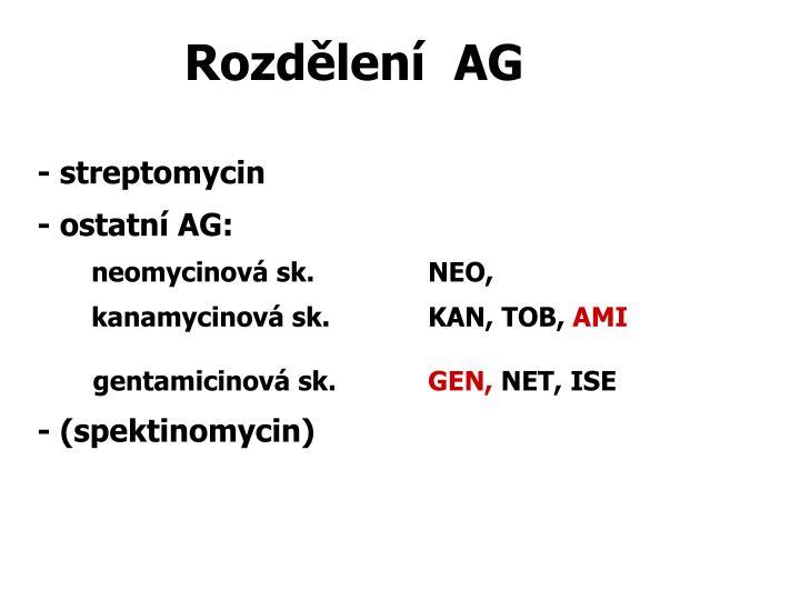 Rozdělení  AG