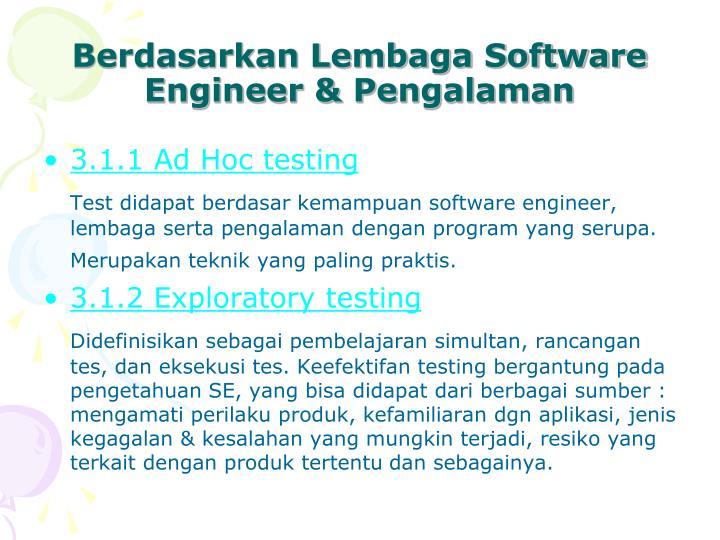 Berdasarkan Lembaga Software