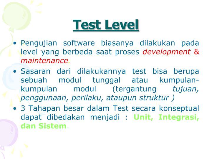 Test Level