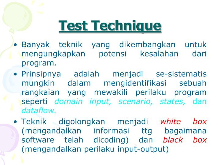Test Technique