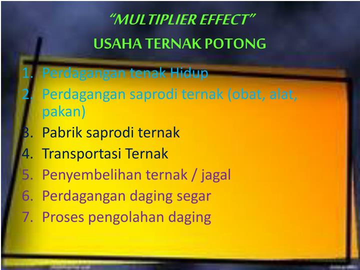 """MULTIPLIER EFFECT"""