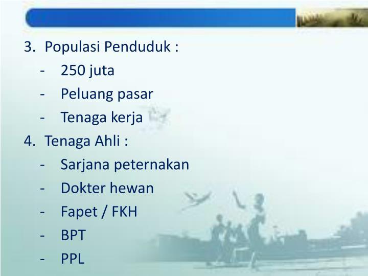 Populasi Penduduk :
