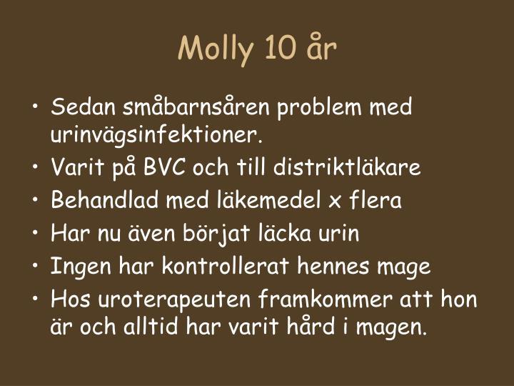 Molly 10 år