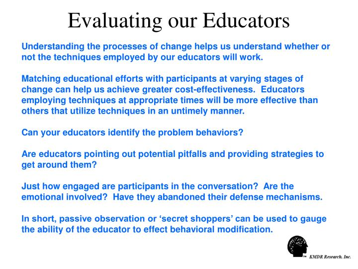 Evaluating our Educators