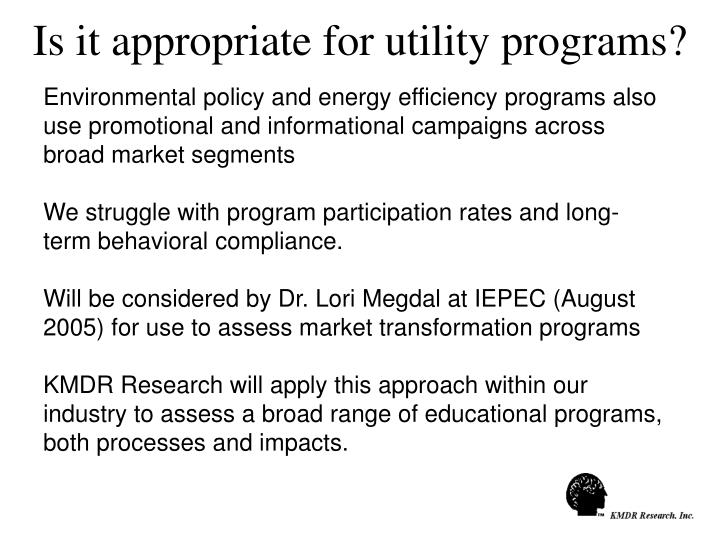 Is it appropriate for utility programs?