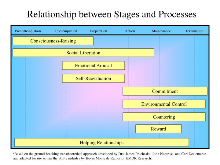Relationship between Stages and Processes