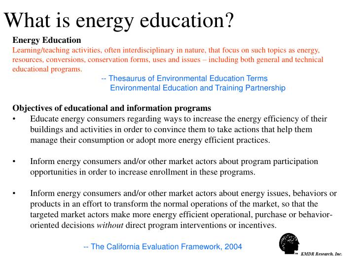 What is energy education?