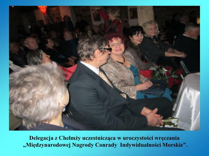 Delegacja z Chełmży uczestnicząca w uroczystości wręczania