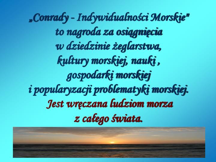 """""""Conrady - Indywidualności Morskie"""""""