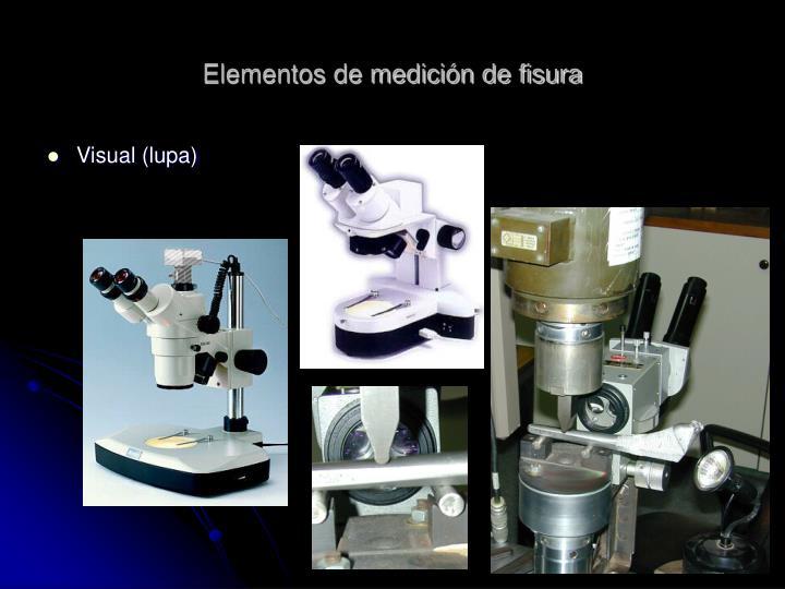 Elementos de medición de fisura