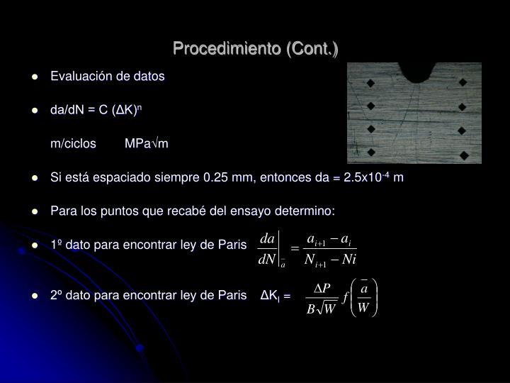 Procedimiento (Cont.)