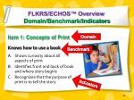 flkrs echos overview domain benchmark indicators