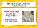 flkrs k 2 est overview technical support