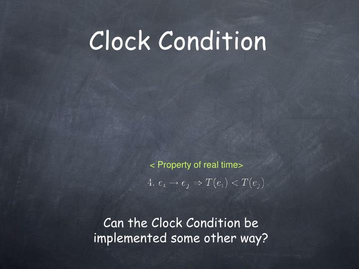Clock Condition