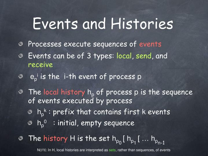 Events and Histories