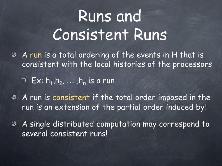 Runs and