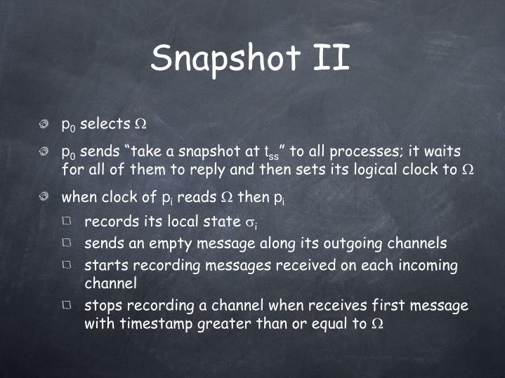 Snapshot II
