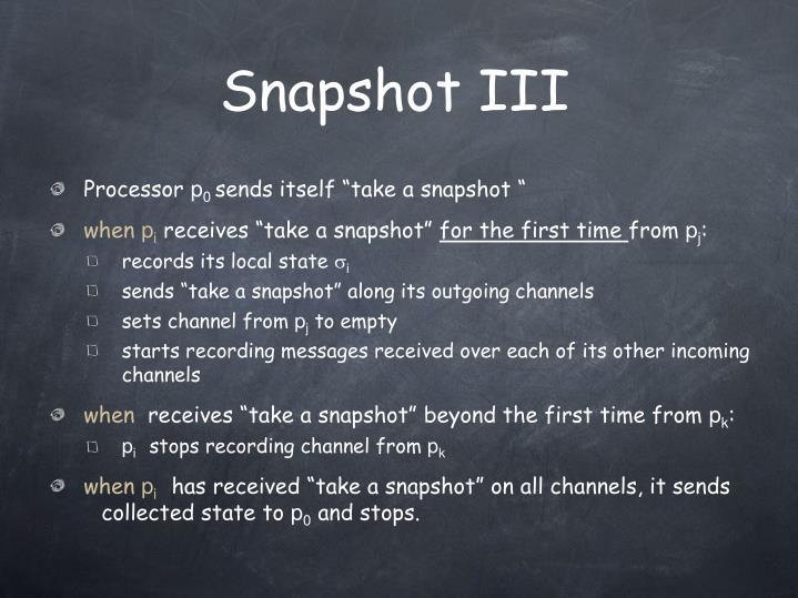 Snapshot III