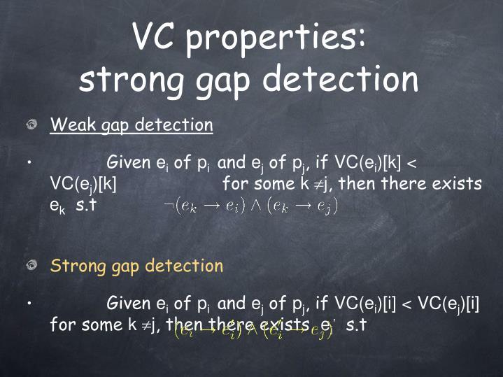 VC properties: