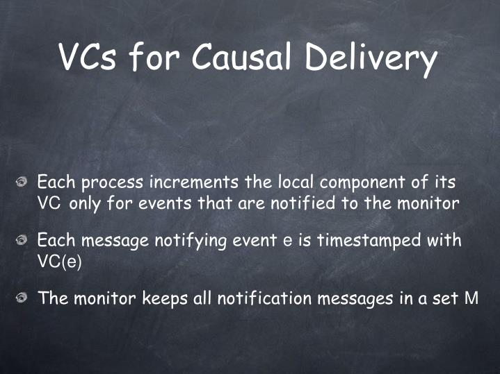 VCs for Causal Delivery