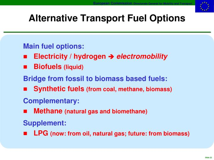 Alternative Transport Fuel Options