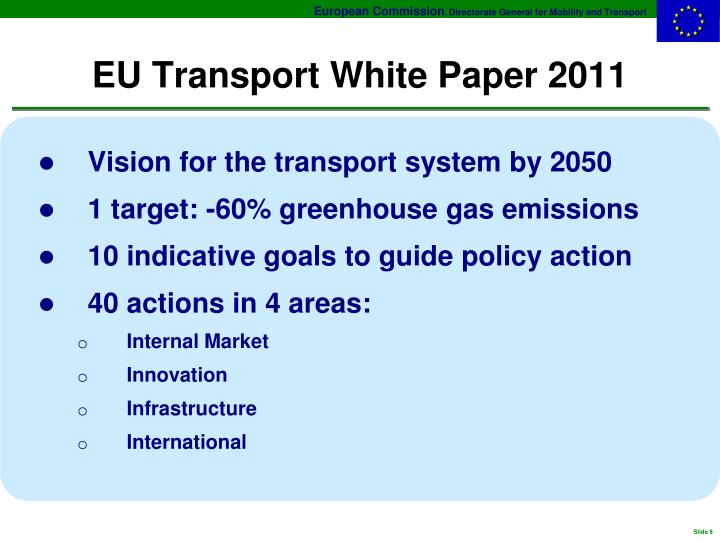 EU Transport White Paper 2011