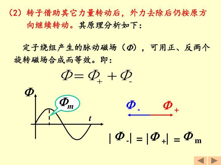 定子绕组产生的脉动磁场(
