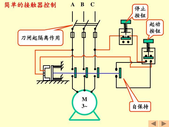 简单的接触器控制