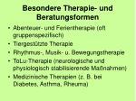 besondere therapie und beratungsformen