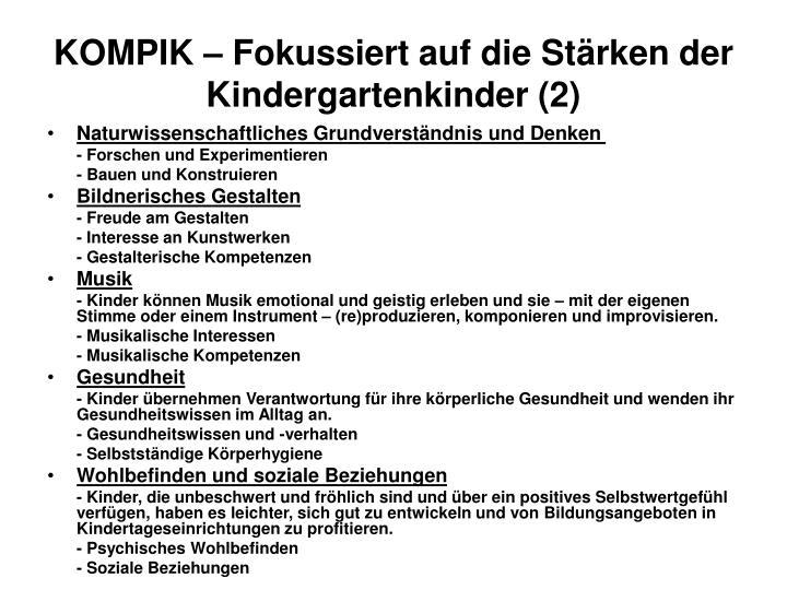 KOMPIK – Fokussiert auf die Stärken der Kindergartenkinder (2)