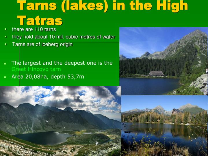 Tarns (lakes) in the High Tatras