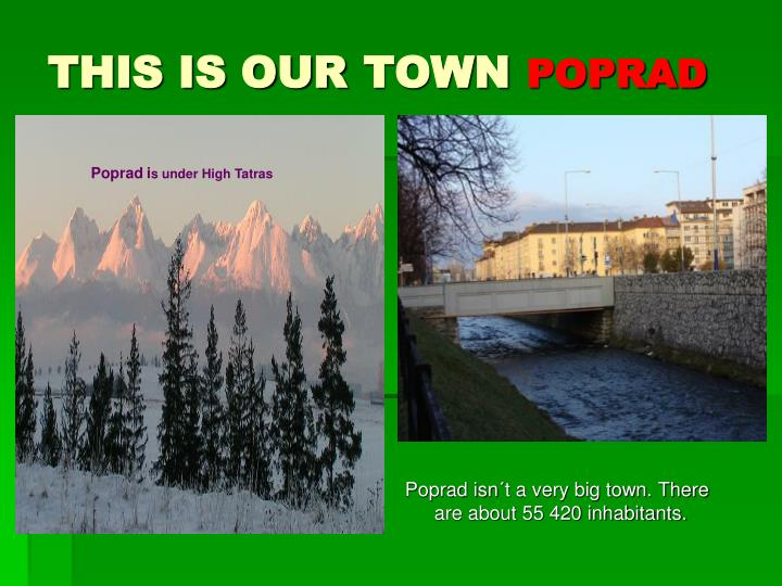 This is our town poprad