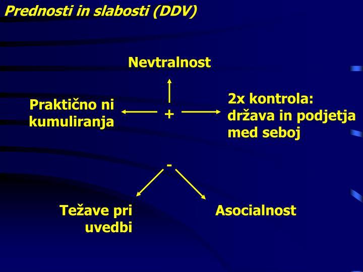 Prednosti in slabosti (DDV)