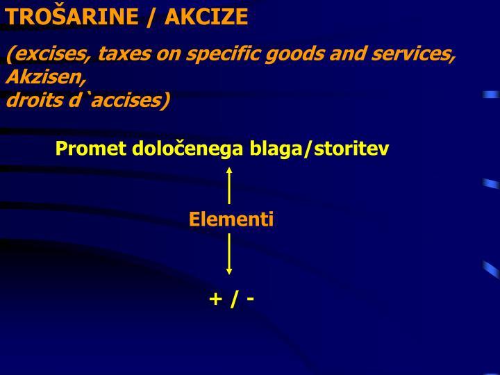 TROŠARINE / AKCIZE