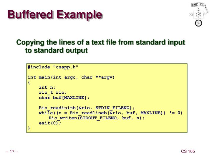 Buffered Example