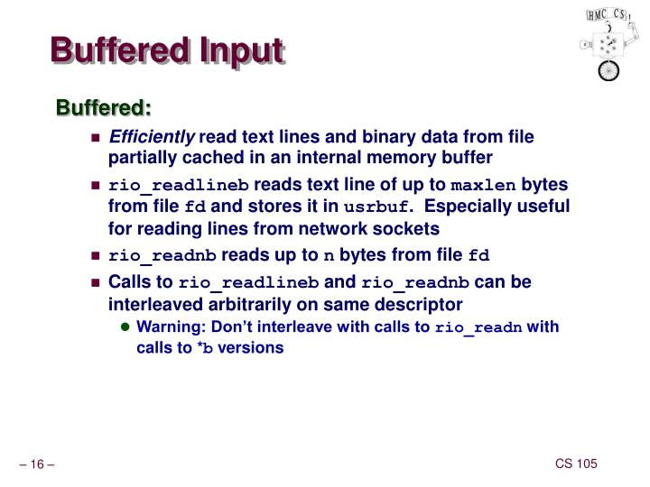 Buffered Input