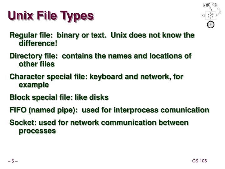 Unix File Types