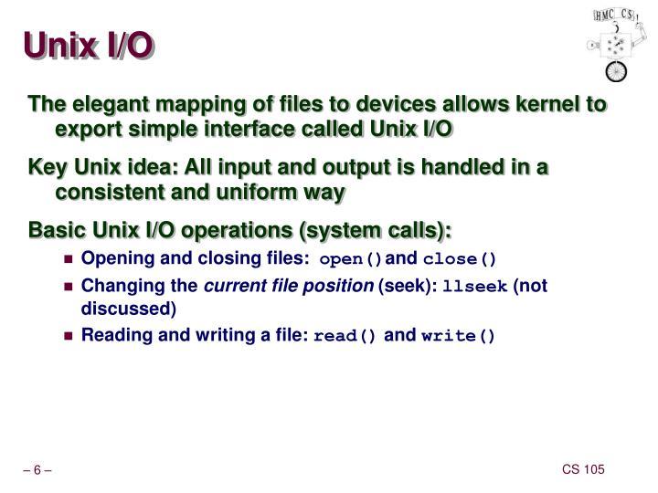 Unix I/O