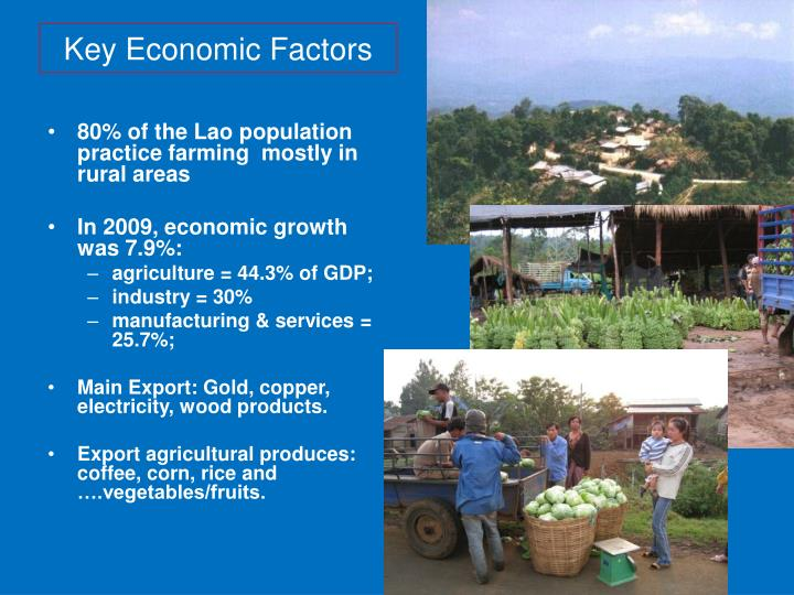 80% of the Lao population practice farming  mostly in rural areas