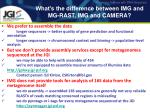 what s the difference between img and mg rast img and camera