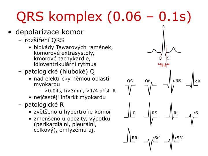 QRS komplex (0.06 – 0.1s)