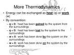 more thermodynamics