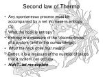 second law of thermo