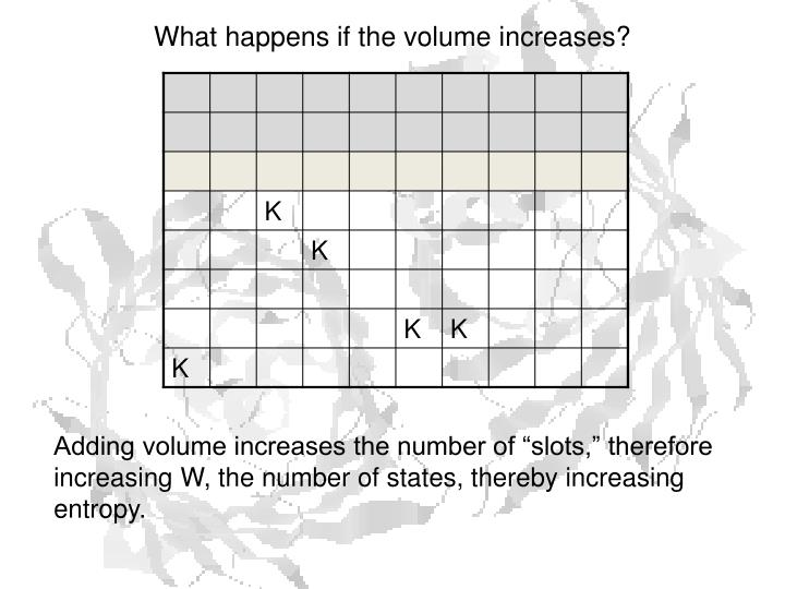 What happens if the volume increases?