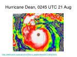 hurricane dean 0245 utc 21 aug
