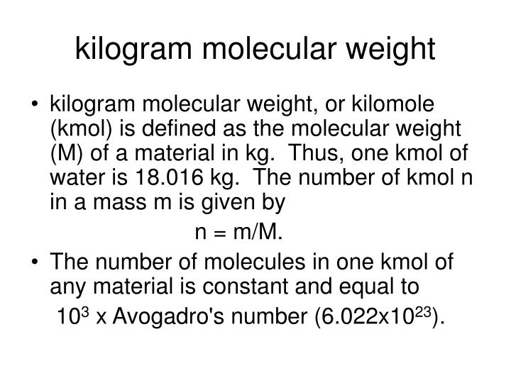 kilogram molecular weight