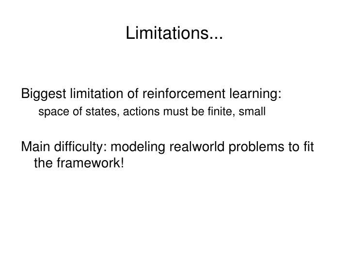 Limitations...
