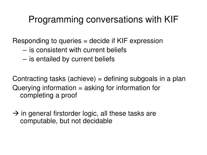 Programming conversations with KIF