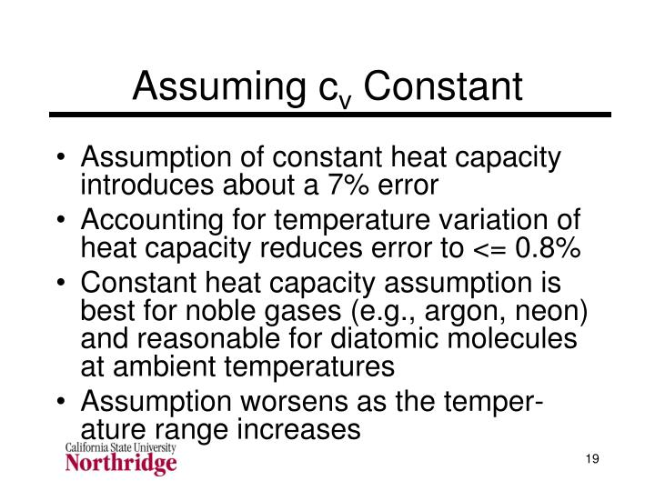 Assuming c