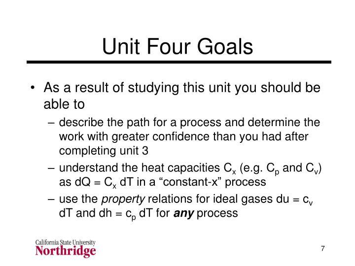 Unit Four Goals